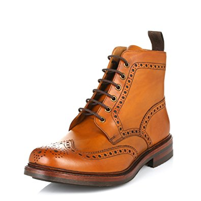 brogue boots loake bedale brogue boot - tan - 6 MGCWQCS