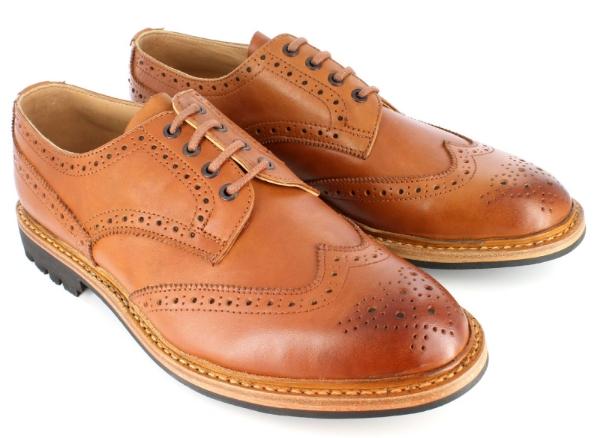 brogue shoes hampton brogue shoe burnished tan FQXSIZF