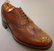 brogue shoes menu0027s full brogue (or wingtip) oxford dress shoe UWZJUCU