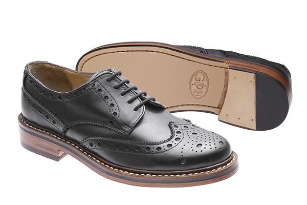 brooklyn brogue shoes black JVEUYFE