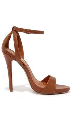 brown heels a step above tan ankle strap heels OKGHAPE