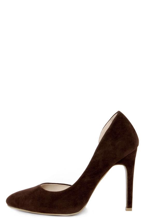 brown heels chic brown pumps - du0027orsay heels - suede heels - $30.00 JCHTBMU