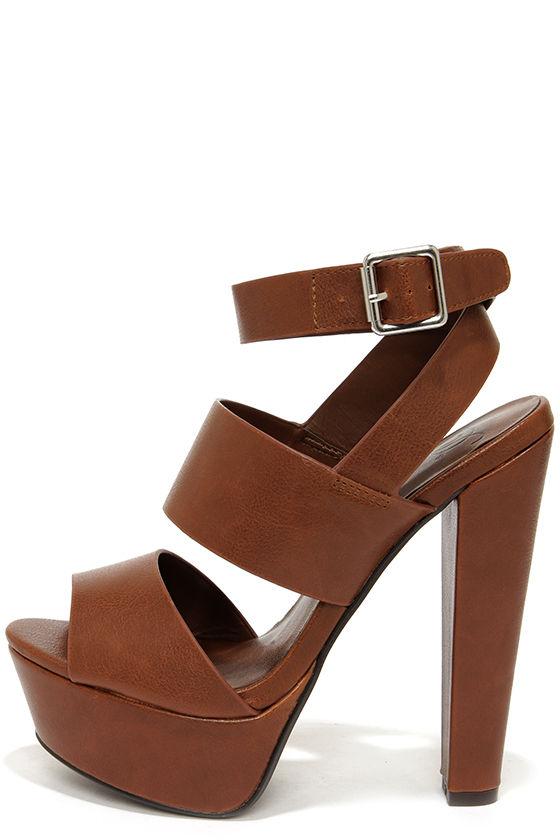 brown heels cute brown shoes - platform sandals - platform heels - $29.00 LEHLNOP