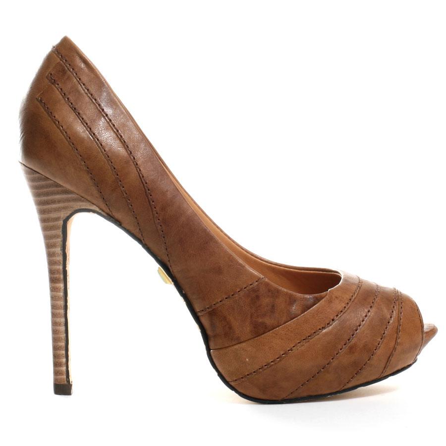 brown heels tansy pump - brown main view QEBMLIP