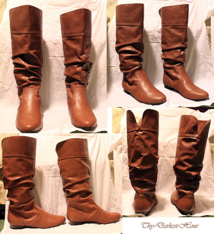 brown leather boots by thy-darkest-hour ... MNIIEEI