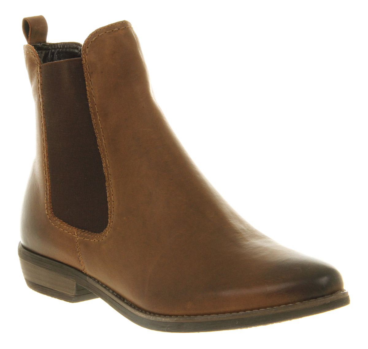 brown leather boots image is loading womens-office-girl-dallas-chelsea-boot-brown-leather- ZHQQLAO