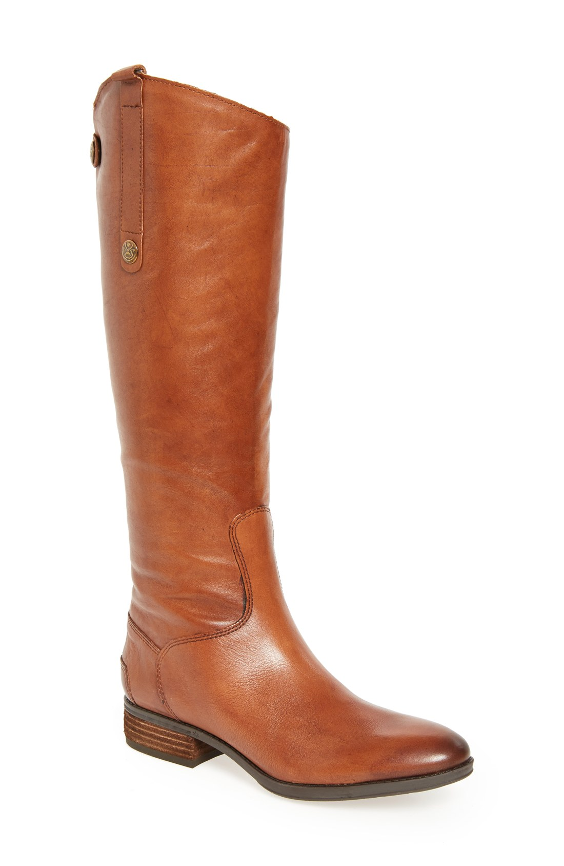 brown leather boots sam edelman u0027pennyu0027 boot (women) | nordstrom ZWRNXRH