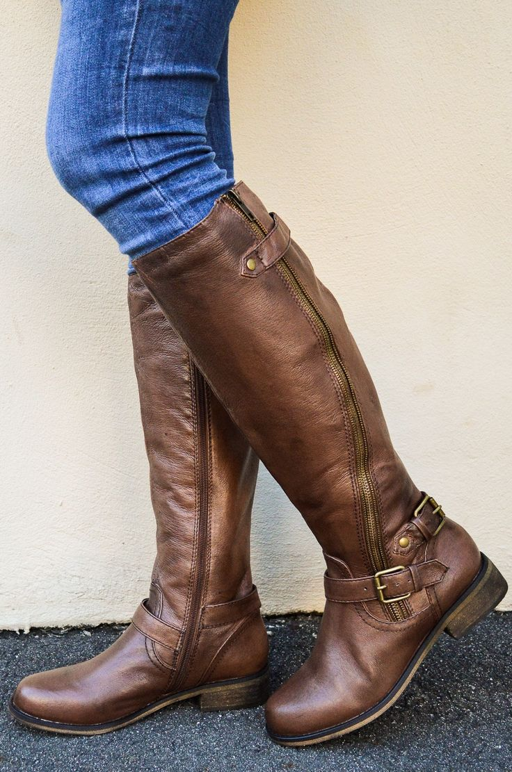 Brown leather boots makes any outfit look better