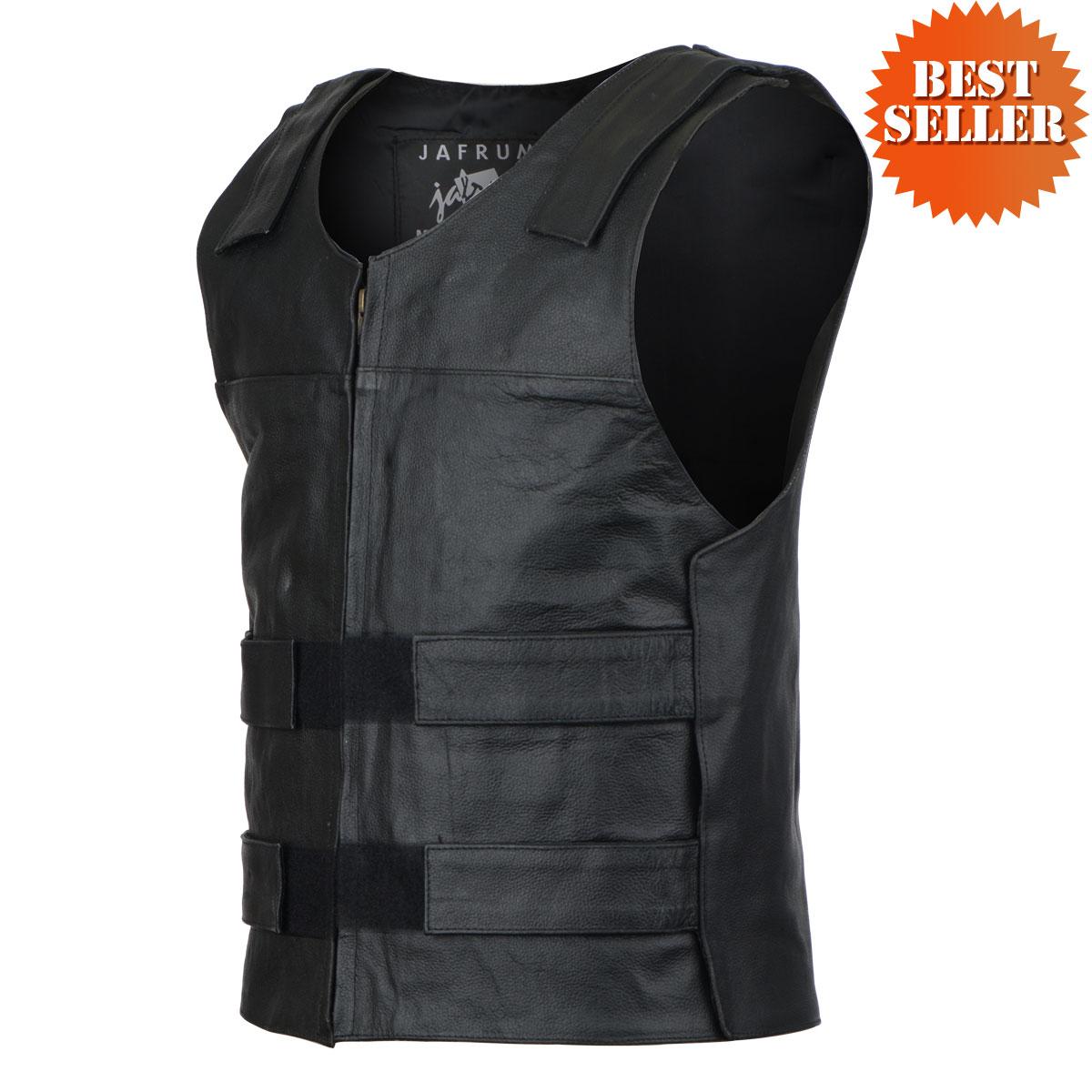 bullet proof style leather vest CSHVAOP