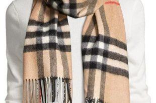 burberrygiant-check cashmere scarf TYSXBGG
