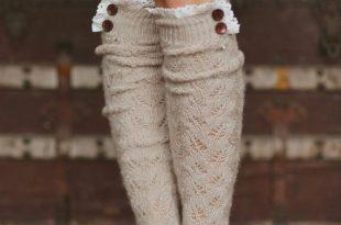 button lace trim boot socks XVSSANL