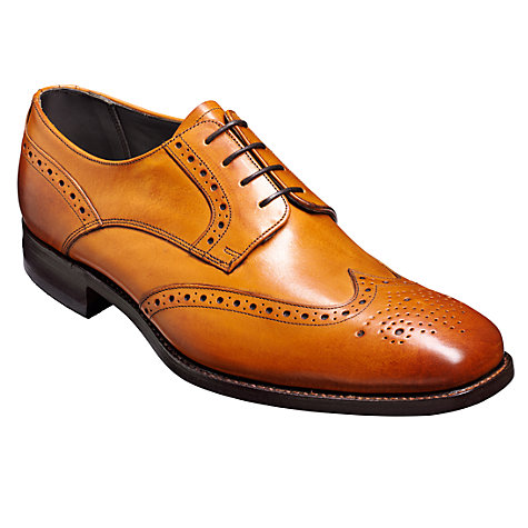 buy barker toddington leather brogue shoes, tan online at johnlewis.com ... WRQNXDE
