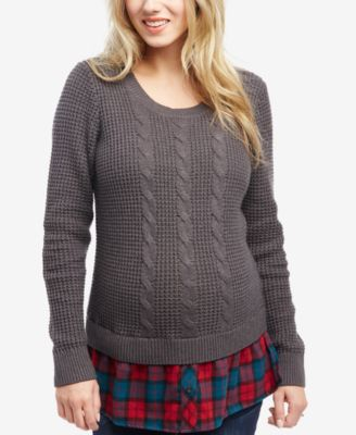 cable knit sweater motherhood maternity cable-knit sweater IUVGLJJ