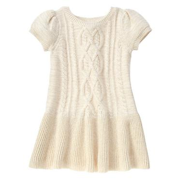 cable knit sweater toddler girls ivory cable-knit sweater dress by gymboree BZMIAIA