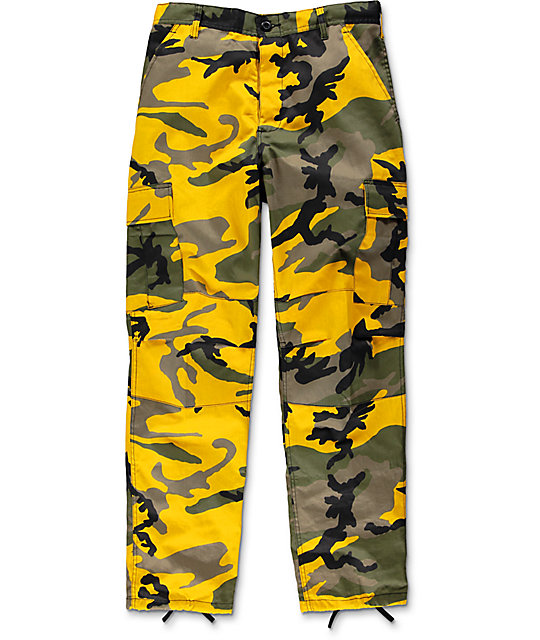 camo pants rothco bdu stinger yellow camo cargo pants DOFGTRC