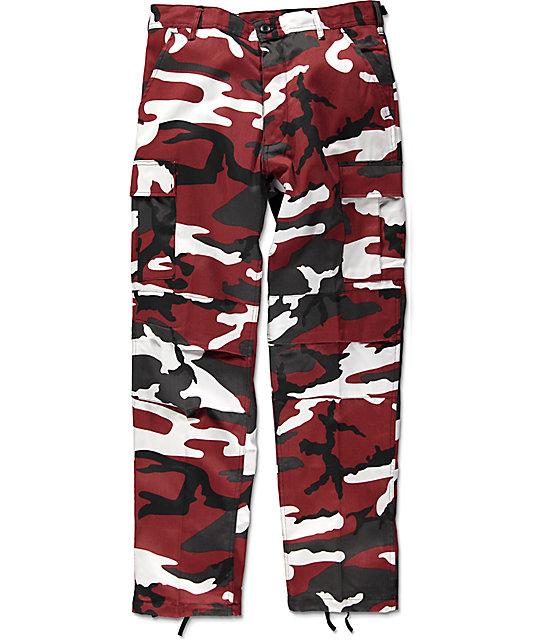 camo pants rothco bdu tactical red camo cargo pants DADKEYJ