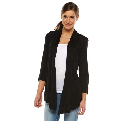cardigan sweaters for women womenu0027s ab studio open-front cardigan FWEYDWP