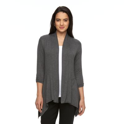 cardigan sweaters for women womenu0027s ab studio shark-bite hem open-front cardigan VFIQSRP