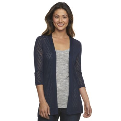 cardigan sweaters for women womenu0027s croft u0026 barrow® pointelle open-front cardigan REYBRSW