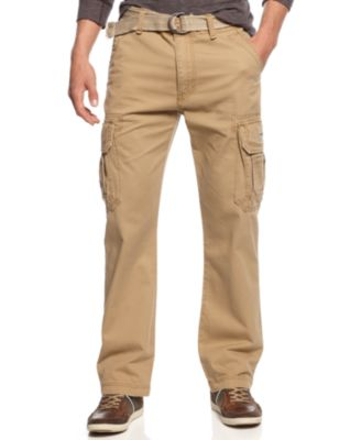 cargo pants for men unionbay menu0027s survivor belted cargo pants YEIXPEI
