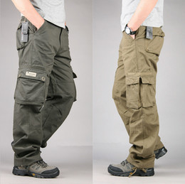 cargo pants for men wholesale-size 30-40 mens cheap cargo pants casual mens pants multi pocket  military pants for IEBTIPM