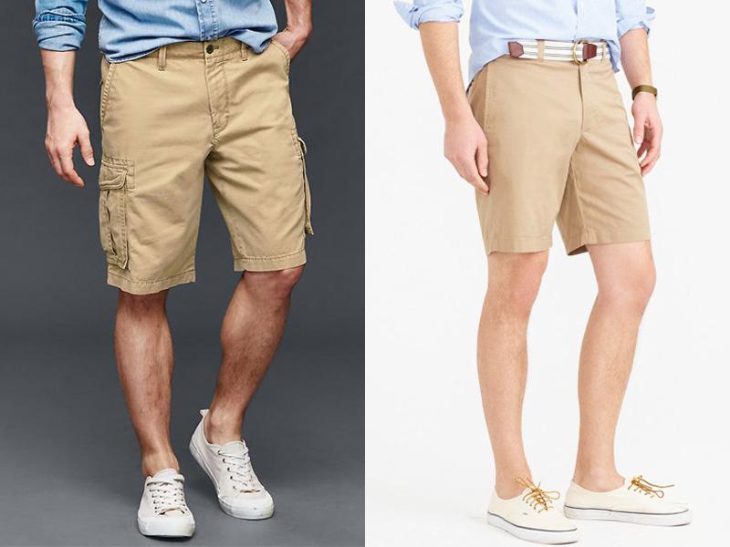 cargo shorts vs. chino shorts.gap and j crew OQDDYTW