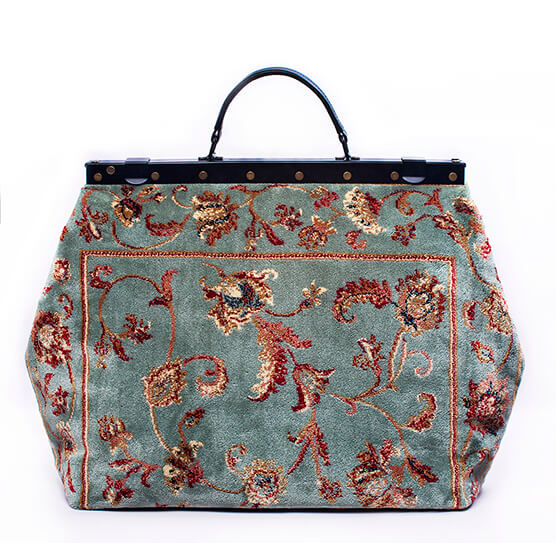 carpet bags image of sac-voyage pergola silver victorian carpet bag. OUDQVXS