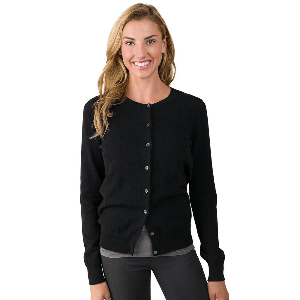 cashmere cardigan black cashmere long sleeve cardigan - black EXPGDRY