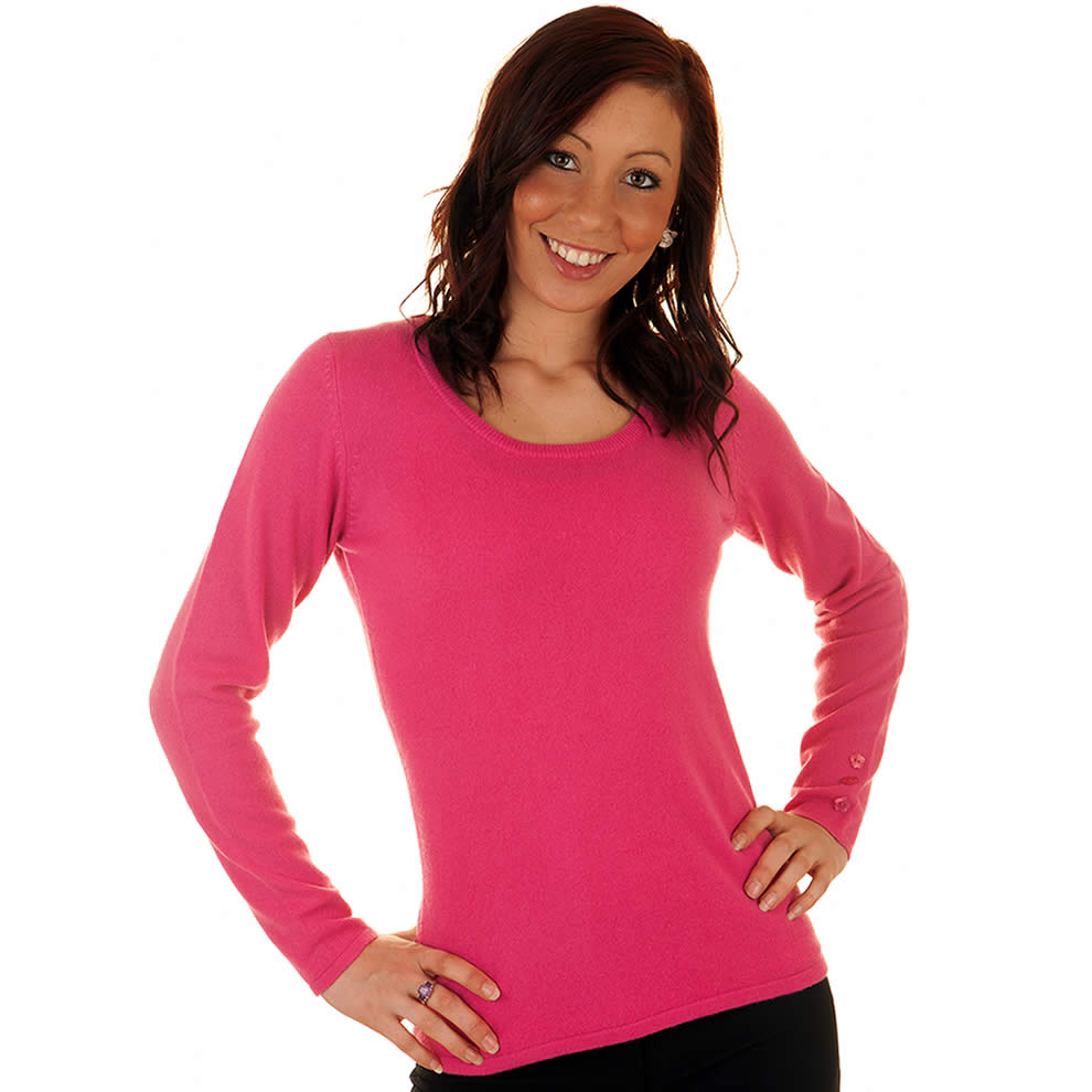 cashmere jumpers ladies pink scoop neck cashmere jumper IAWIMDJ