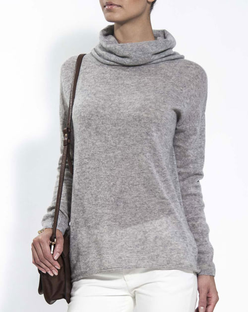 cashmere jumpers ladiesu0027 oversized cashmere cowl neck jumper ... GLFWDRK