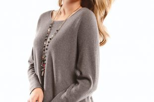 cashmere jumpers round neck jumper in 100% cashmere LWURMKJ