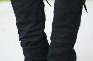 castor black wedge boots HAFJCGI