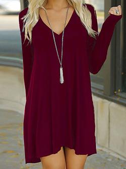 casual dresses womenu0027s casual long sleeved mini dress EIABIJX