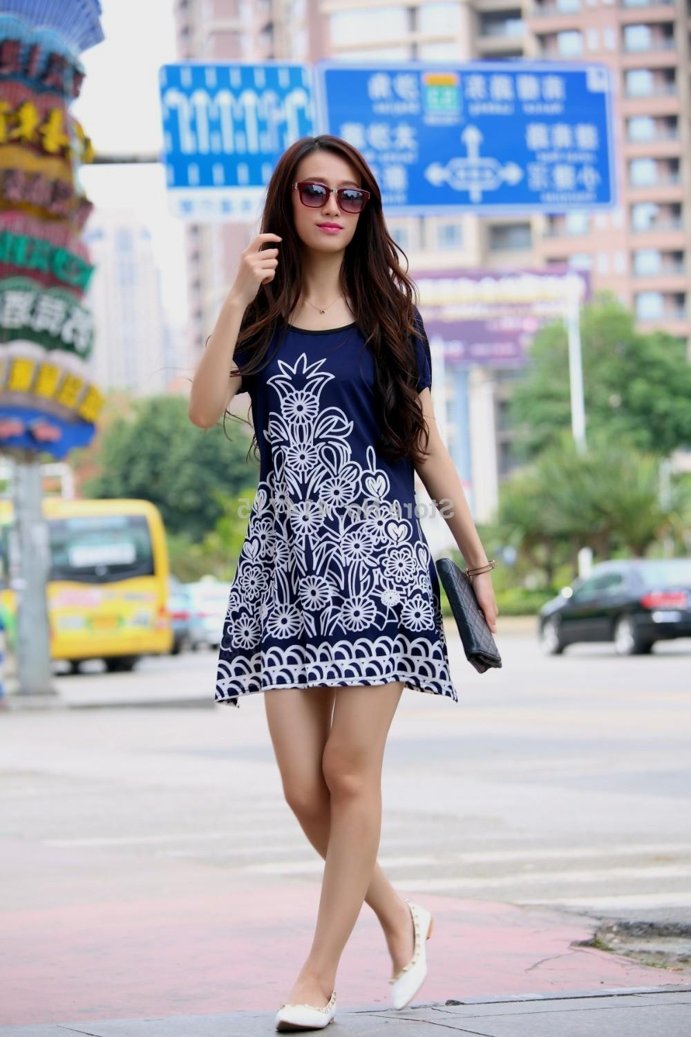 casual summer dresses with sleeves - fashion ABRBTFC