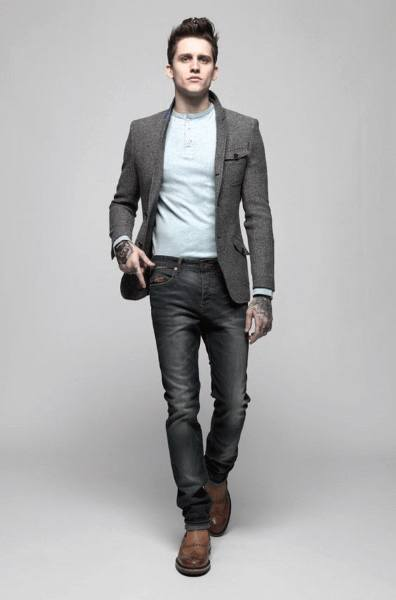casual wear for men casual wear mens styles grey blazer with jeans IUGHVOR