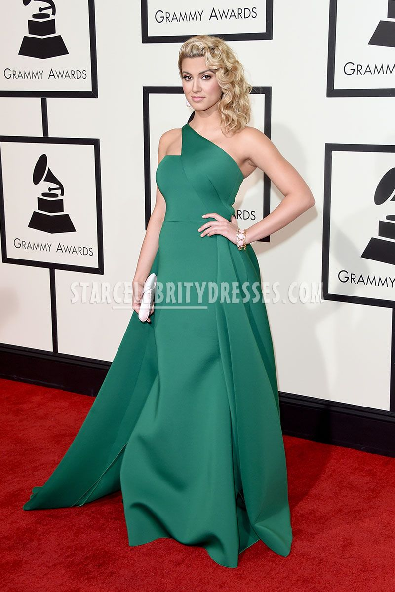 celebrity dresses tori kelly green goddess celebrity ball gown prom dress grammys 2016 AHKFUJN