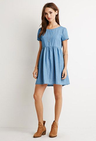 chambray babydoll dress | forever 21 - 2000131330 SPISWTR
