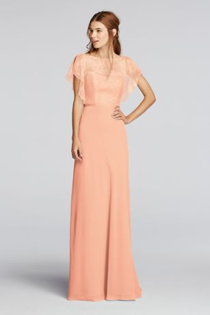 chiffon dress long blue soft u0026 flowy wonder by jenny packham bridesmaid dress CQNAMPV