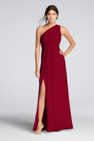 chiffon dress long ivory soft u0026 flowy davidu0027s bridal bridesmaid dress XYMGFXN