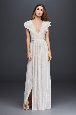 chiffon dress long sheath country wedding dress - the jetset diaries HXSSIIM