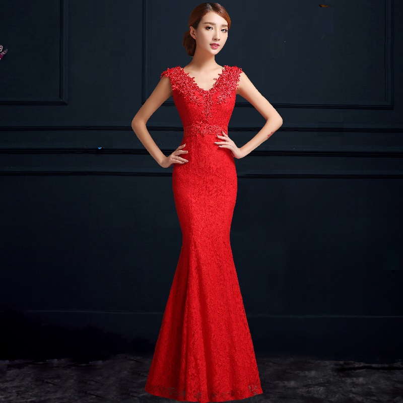 chinese wedding dress aliexpress.com : buy mermaid v neck lace sexy red wedding cheongsam  traditional chinese wedding HEKXWGV