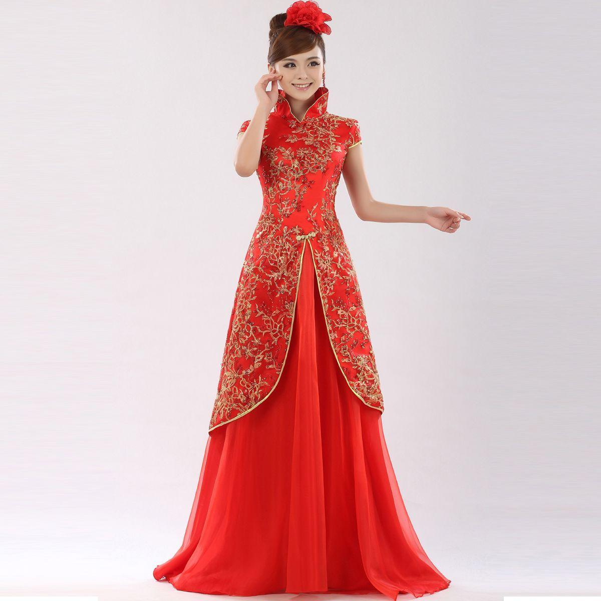 chinese wedding dress traditional wedding dresses SJCWQSK