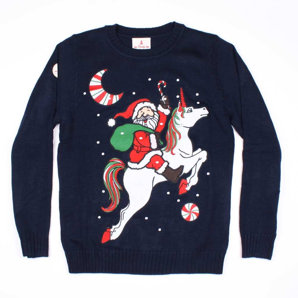 christmas jumper 2016 unicorn santa christmas jumper AIZVFKF