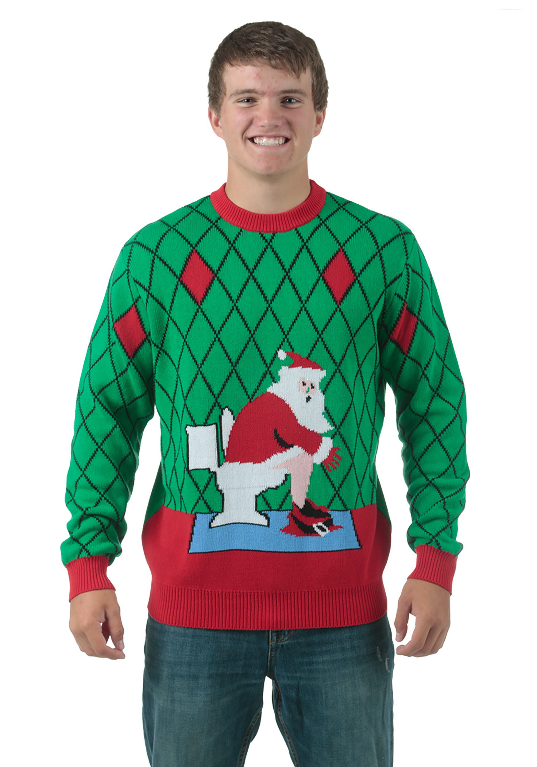 christmas sweaters toilet santa ugly christmas sweater RTBTWQB