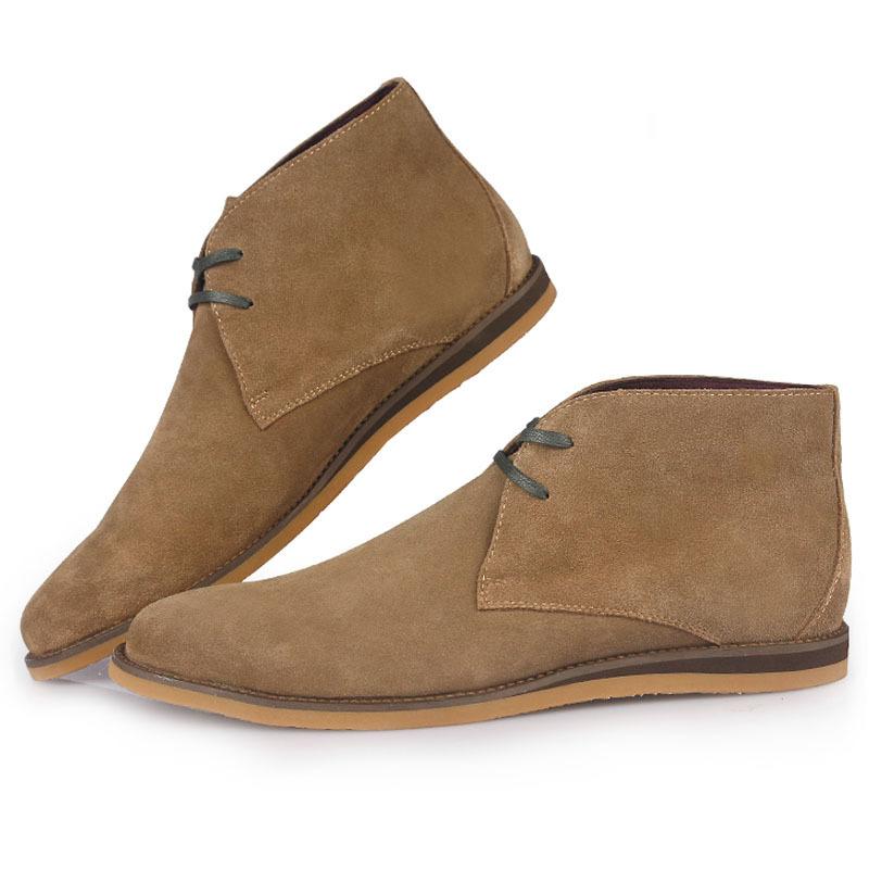 chukka boots men us 5 6 7 8 9 10 new nubuck leather casual lace up desert chukka LFYFKGH