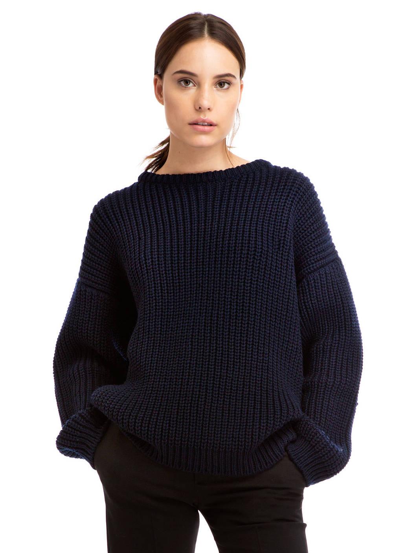 chunky sweater .09 navy chunky knit sweater found on zady - www.zady.com/ AIJDFCF