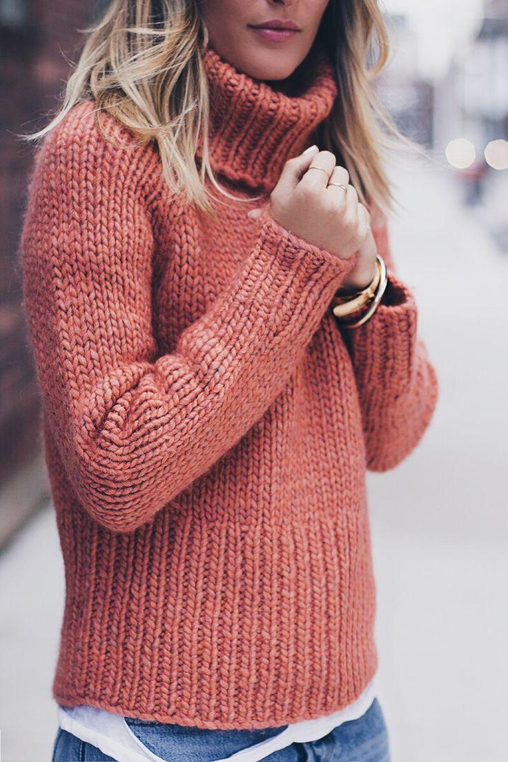 chunky sweater burnt orange chunky knit sweater more KCONSTA
