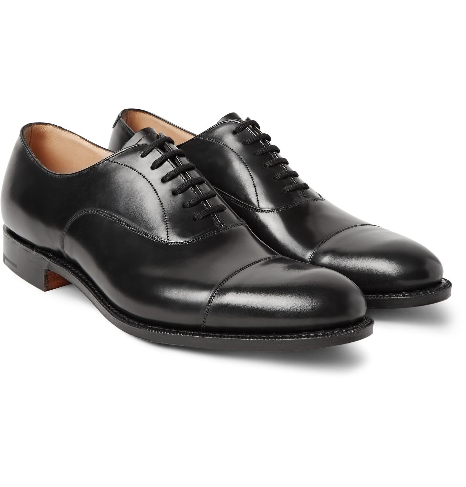 church shoes churchu0027sdubai polished-leather oxford shoes TWKOCMG