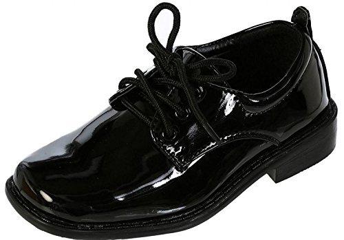church shoes tip top, black patent dress oxford shoes ~ 10m us (3-4yr) SEJZTWI