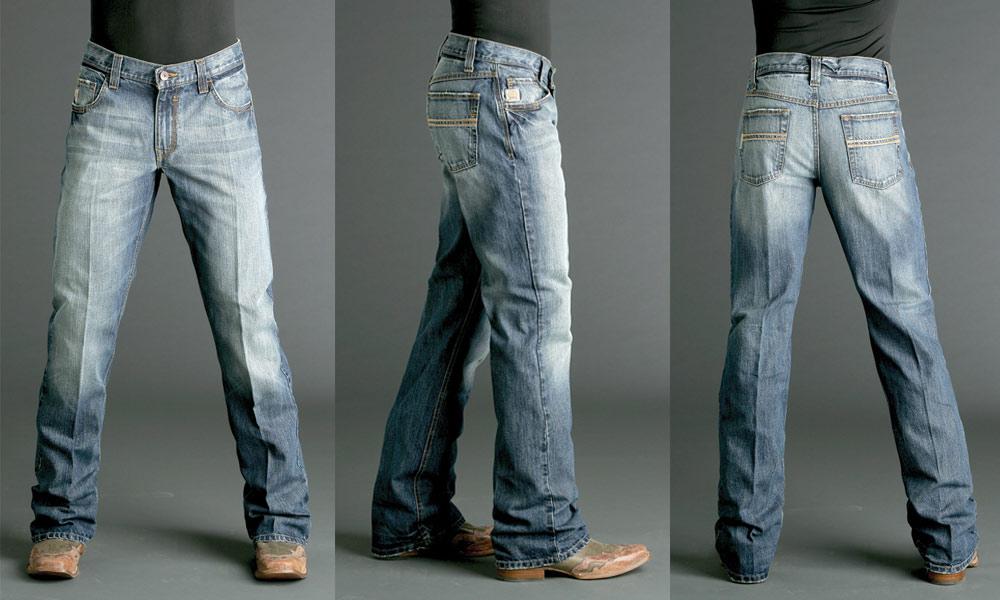 cinch jeans carter cinch jeans for men medium stonewash boot cut leg  mb96134001 POOLXXK